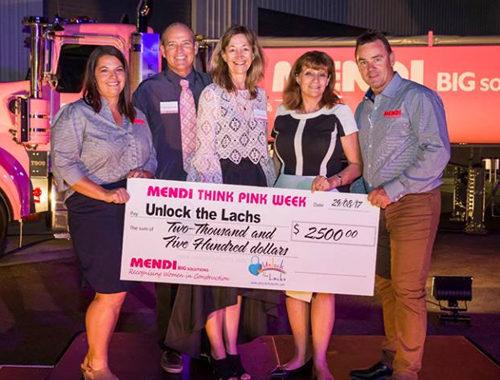 Think Pink Tash, Jeff, Jenny, Gav & I with chq